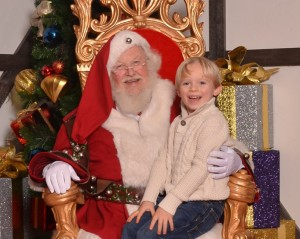 Santa and Liam - two real guys