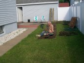 side yard before the garden