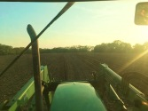 A view while planting corn